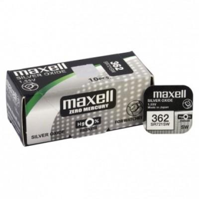 Baterija za ročno uro Maxell 362 Silver-Oxide 1,55 V (SR721SW)