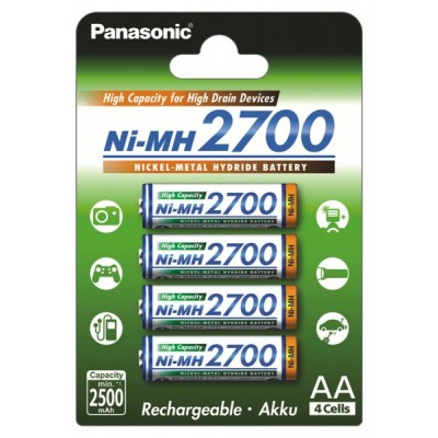 Baterija akumulator PANASONIC AA 2700 mAh Ni-Mh polnilna
