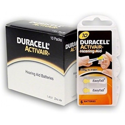 Baterija Duracell 10 za slušni aparat 1,4 V  (60 kos)