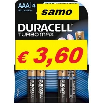 Baterija Duracell Duralock Turbo Max LR03 AAA (blister)