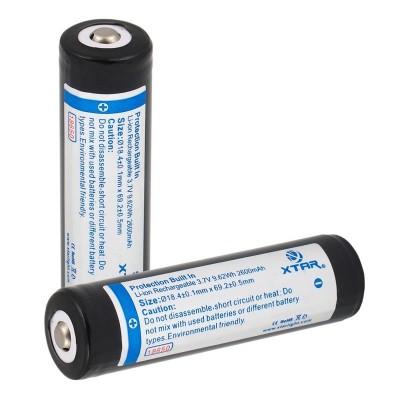 Baterija akumulator 18650 XTAR 2600 mAh z zaščito