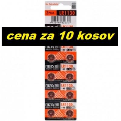 Baterija Maxell AG10/LR1130/189/LR54 (10 kosov)