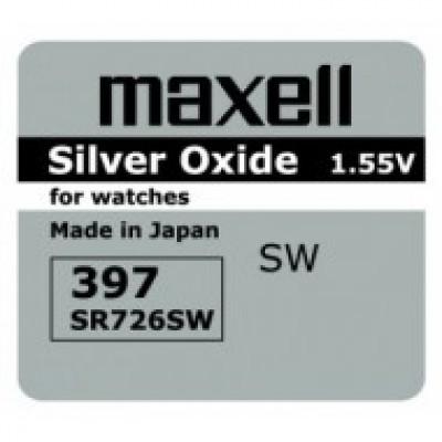 Baterija za ročno uro Maxell 397, SR726SW