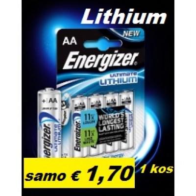 Baterija Energizer Ultimate Lithium AA 1,5 V (cena za 1 kos)