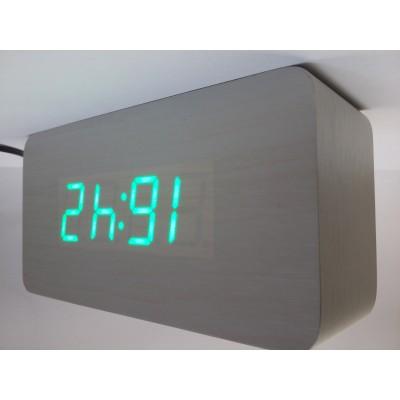 LED budilka/namizna ura D&D (art.: DD-1205/zelena)