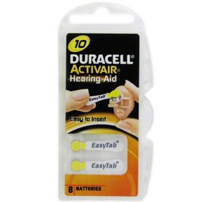 Baterija Duracell 10 za slušni aparat 1,4 V  (6 kos)