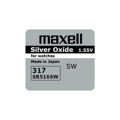 Baterija za ročno uro Maxell 317 Silver-Oxide 1,55 V (SR516SW)